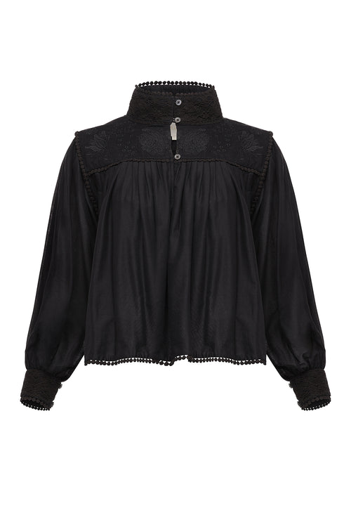 Carolina K Victoria Blouse Black