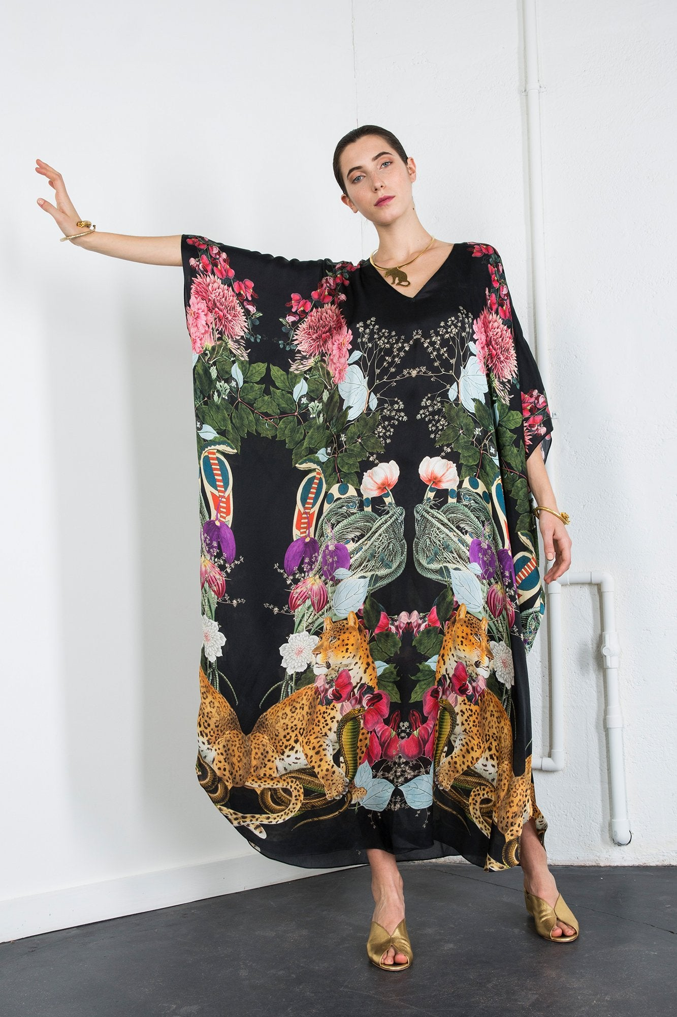 Carolina K Xim Kaftan Majestic Animals