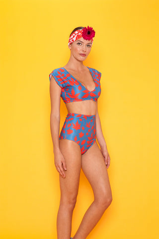 Liset Color Block One Piece Swimsuit