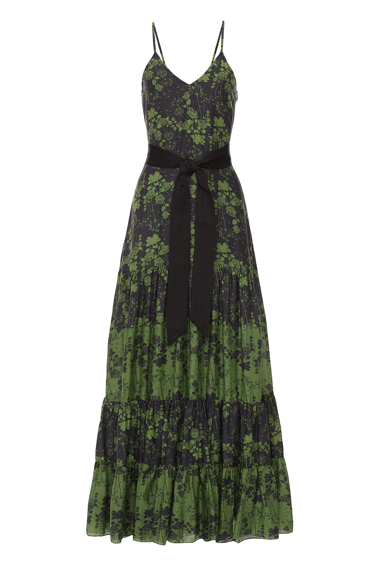 Carolina K Julia Dress Green Roses