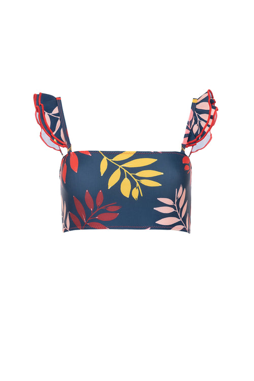 Carolina K Kuna Bikini Top Navy Foliage