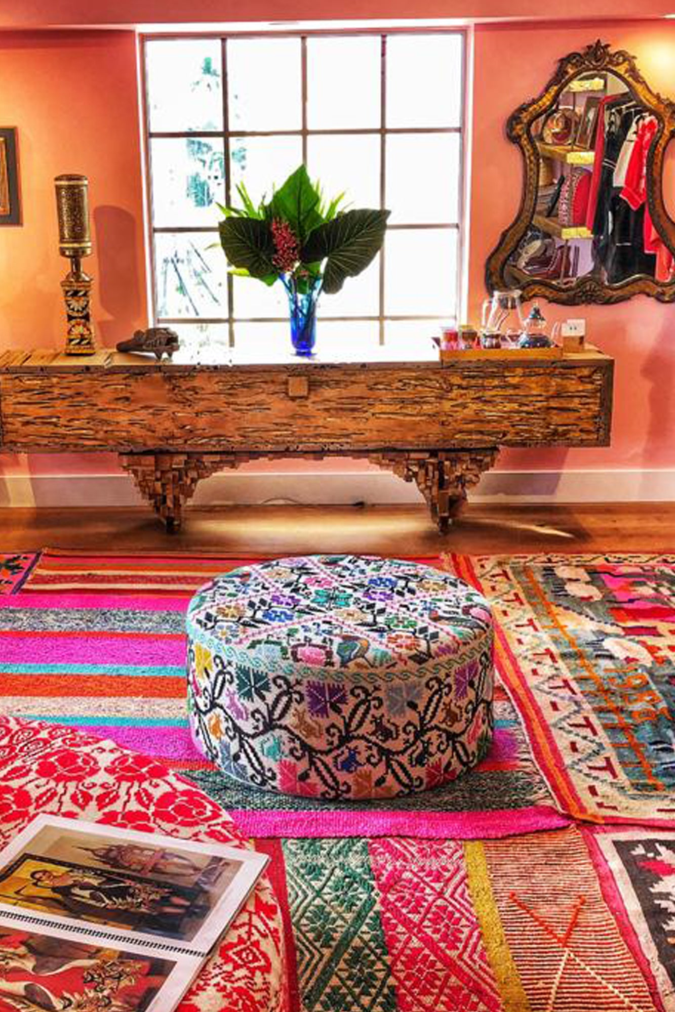 Small Embroidered Ottoman