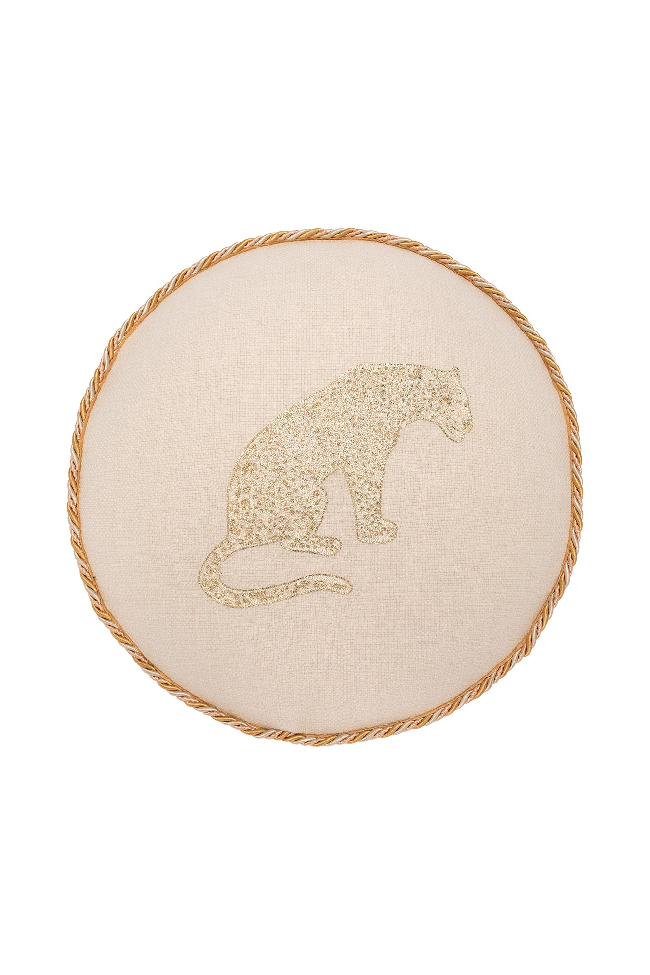 Desert Animal Embroidered Round Pillow