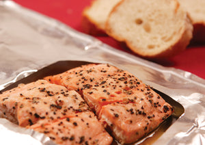 Roasted Salmon with White Wine, Butter & Herbs