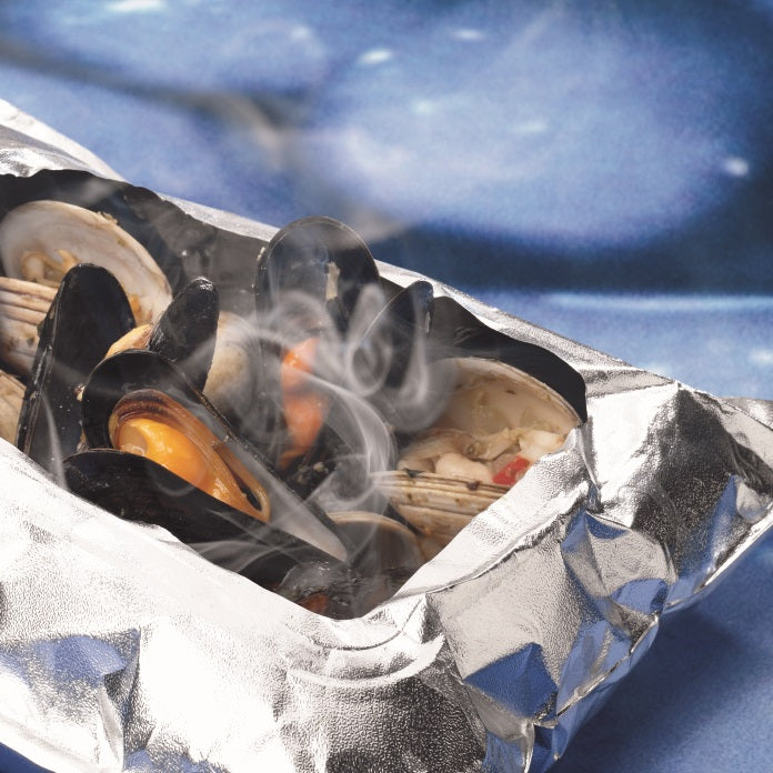 Steamed Clams & Mussels with White Wine & Herbs