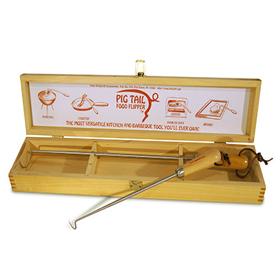 "19"" & 12"" PigTail Combo Wooden Box - Hardwood Handle"