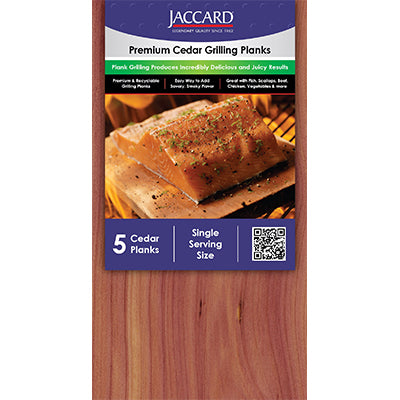 Premium Cedar Grilling Planks Small - Shrink-wrap (5 planks / pkg)