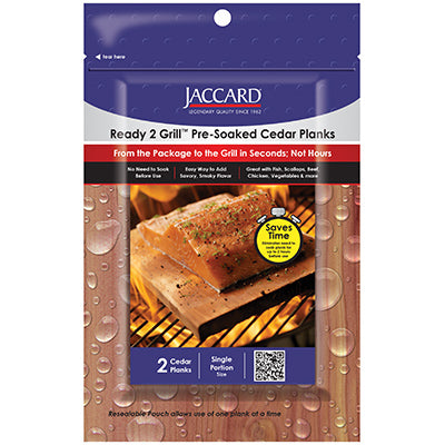 Ready 2 Grill™ Pre-Soaked Cedar Planks Small (2 planks / pkg)