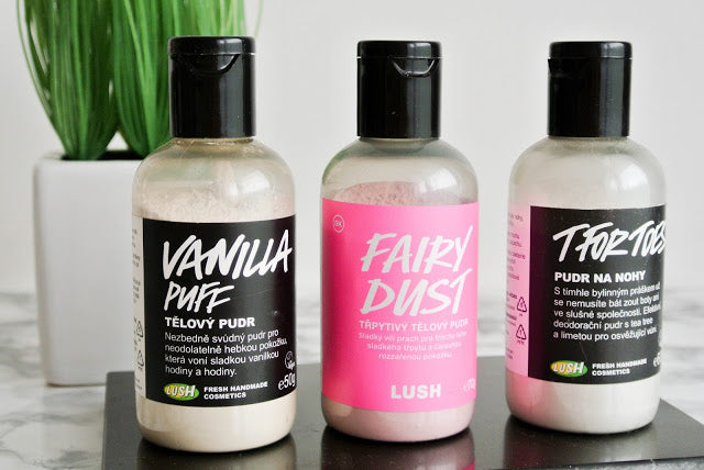 LUSH pudry / recenze