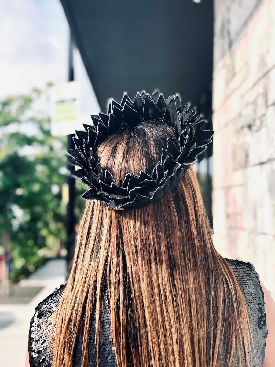 Filomena Black Denim Crown