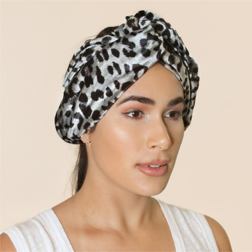 Who doesn't need more leopard print in their lives? This velvet headband has been crafted from leftover fabric from our Design Studio and gives any ensemble a funky finishing touch.  100% Upcycled Velvet   Handmade in Miami