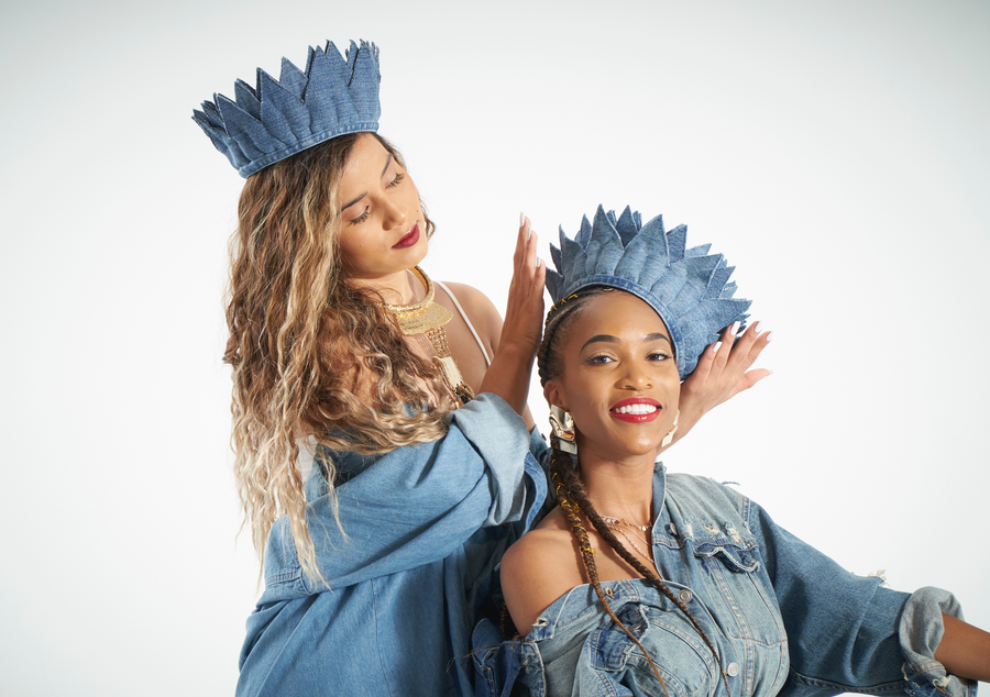 Filomena Denim Crown