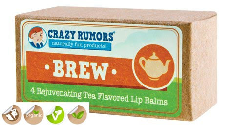 Crazy Rumors Brew (Tea Flavoured) Vegan Lip Balm Collection