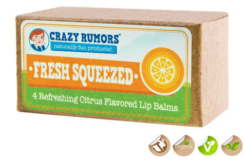 Crazy Rumors Citrus Flavours Vegan Lip Balm Collection
