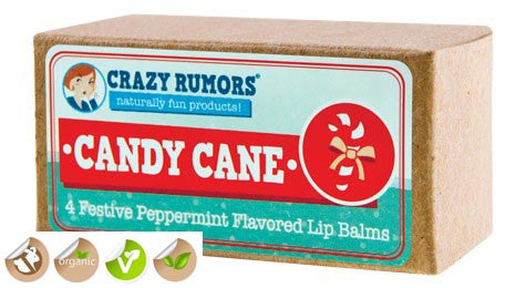 Crazy Rumors Peppermint Holiday Vegan Lip Balm Collection
