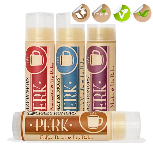 Crazy Rumors Coffee Flavoured Vegan Lip Balms