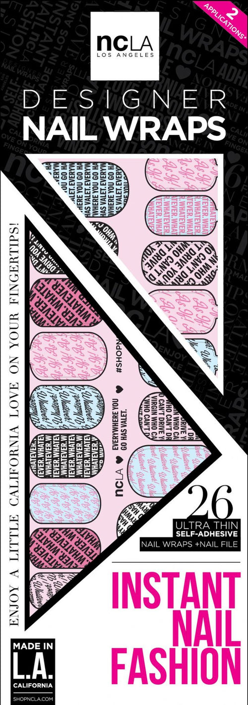 NCLA Nail Wraps Everywhere You Go Has Valet