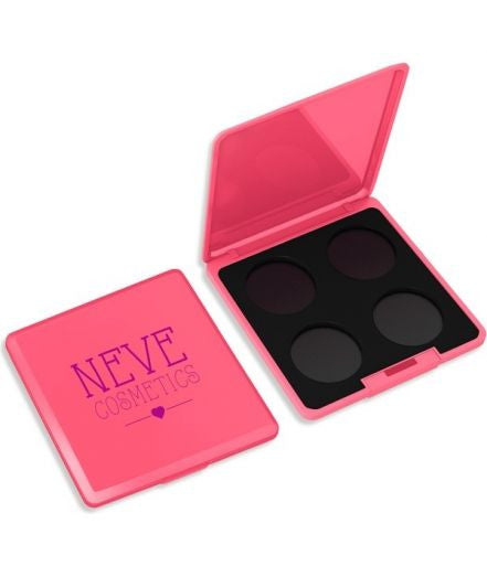 Neve Cosmetics Customizable Empty 4x Hole Palette - CORAL