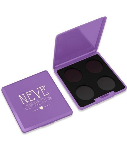 Neve Cosmetics Customizable Empty 4x Hole Palette - VIOLET