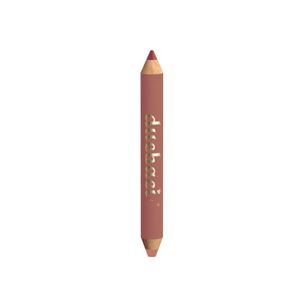 Neve Cosmetics Dual Lipliner & Lipstick Pencil VIRGIN (dark mauve and cool beige)