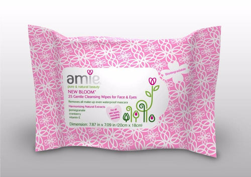 Amie New Bloom Gentle Facial Cleansing Wipes (25)