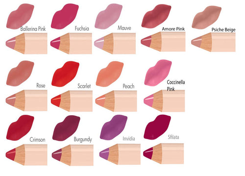 Neve Cosmetics Pastello Lip Colour Pencils - BURGUNDY