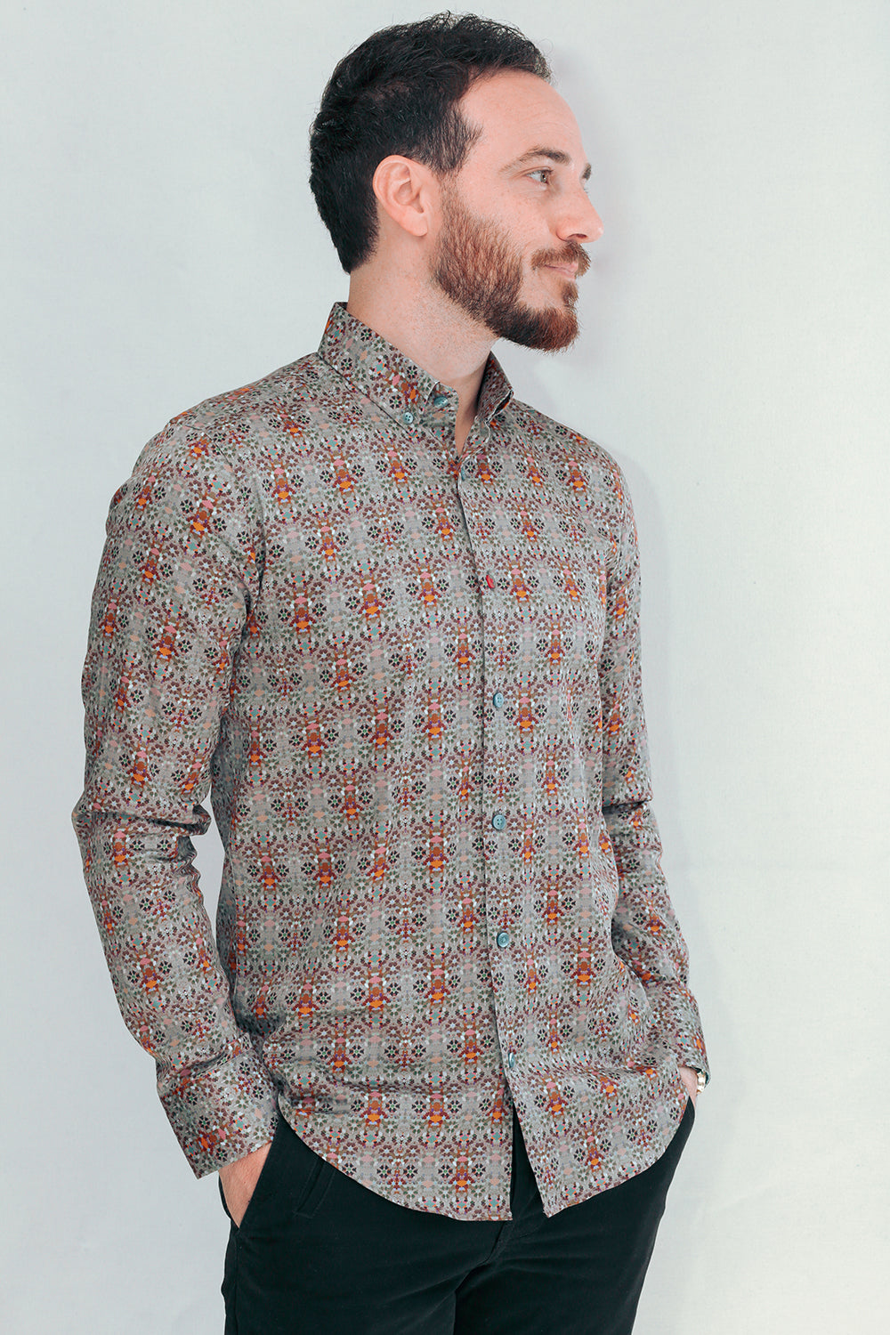 Tripoli Designer Shirts In Multi Coloured Mediterranean Prints