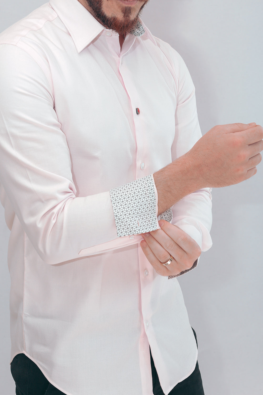 Marrakesh Pink Designer Shirt In Point Collar