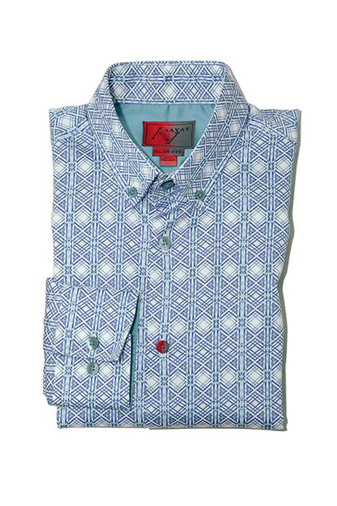 SLIM FIT DRESS SHIRTS IN POINT COLLAR VALENCIA