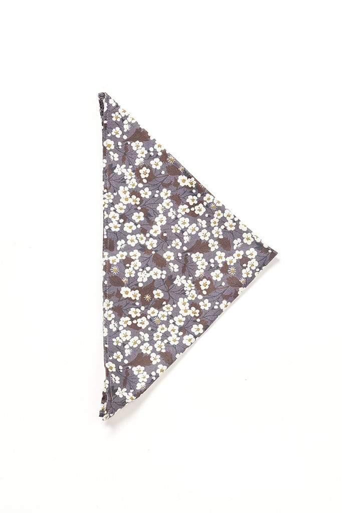 Nantes Gray/White Floral Printed Shirt