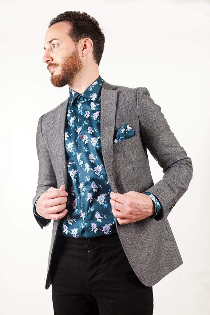 aayatmenswear Mens Printed Shirts In Navy/Pink ST.TROPEZ