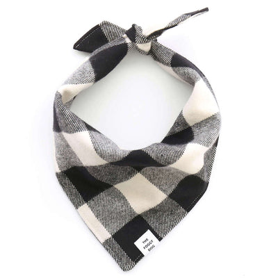 The Foggy Dog Black and White Check Flannel Bandana