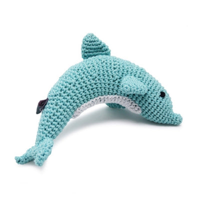 Pawer Squeaky Dolphin Toy