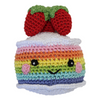 Pet Flys Knit Knacks Rainbow Cake
