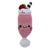 Pet Flys Knit Knacks Strawberry Milkshake