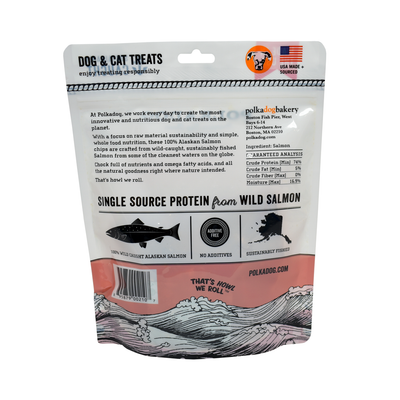Polkadog Alaskan Salmon Chips Treats