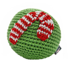 Pawer Squeaky Candy Cane Ball Toy