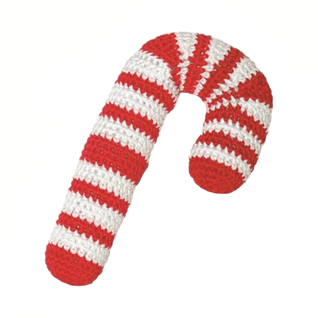 Pawer Squeaky Candy Cane Toy Organic Pet Boutique
