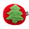 Pawer Squeaky Christmas Tree Ball Toy