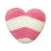 Pawer Squeaky Stripy Heart Toy