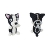 Hip Doggie Dog Star Boston Terrier Keychain