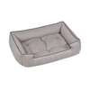 Jax & Bones Herringbone Printed Plush Velour Sleeper Bed