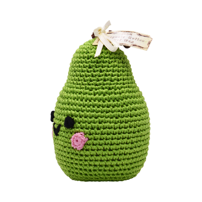 Pet Flys Knit Knacks Bartlett Pear Toy
