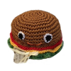 Pet Flys Knit Knacks Hamburger Toy