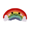 Pet Flys Knit Knacks Happy Rainbow Toy