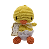 Pet Flys Knit Knacks Hatch The Baby Duck Toy