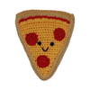 Pet Flys Knit Knacks Pizza Toy
