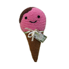 Pet Flys Knit Knacks Scoop The Ice Cream Cone Toy