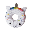 Pet Flys Knit Knacks Unicorn Donut Toy