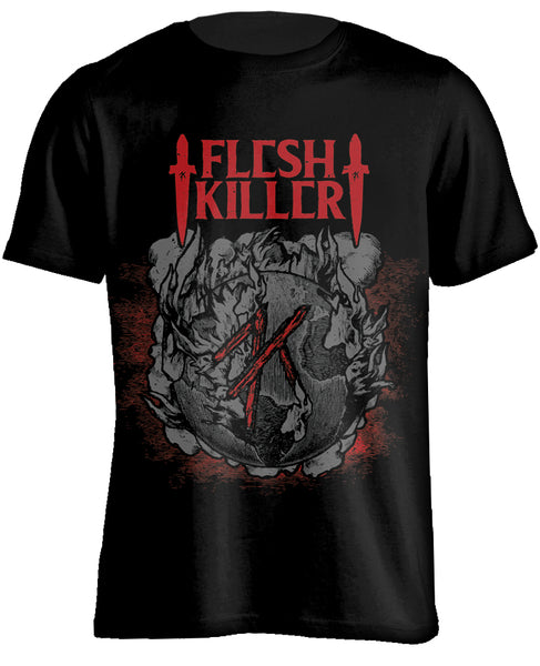 FLESHKILLER - Red Logo (T-Shirt)